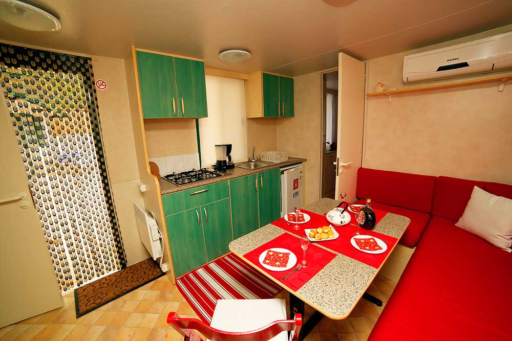 Autocamp Mario Bol Island Brac-Casa mobile with pool